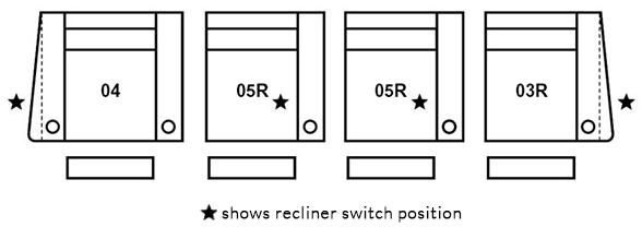 4 Seat Straight (Option 1)