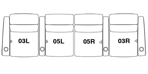 4 Seat Straight (Option 2)