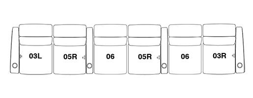 6 Seat Straight option 2