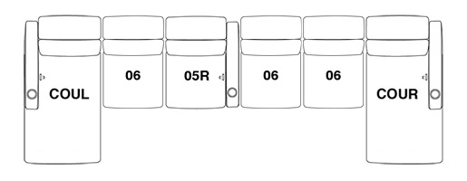 6 Seat straight option 3