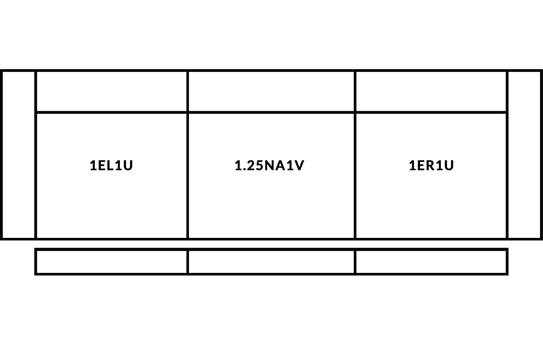 FrontRow™ Luno 3 seat straight Option 1