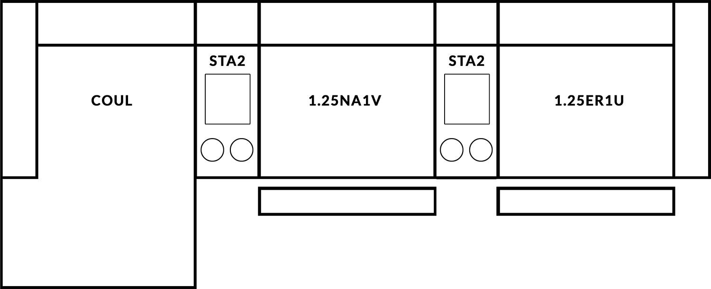FrontRow™ Luno 3 seat straight Option 13
