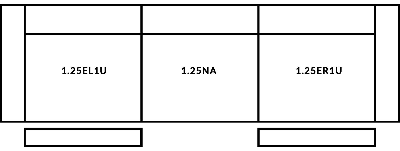 FrontRow™ Luno 3 seat straight Option 5