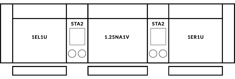 FrontRow™ Luno 3 seat straight Option 7