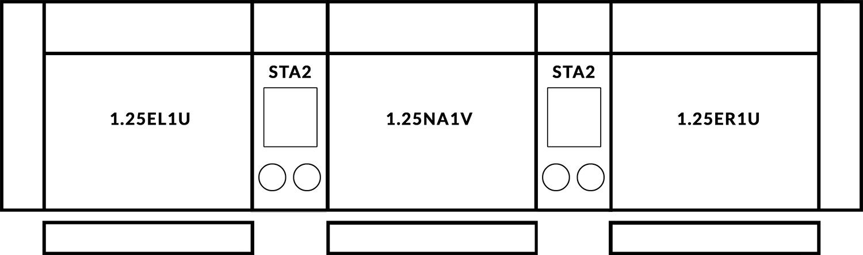 FrontRow™ Luno 3 seat straight Option 8