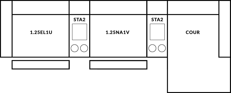FrontRow™ Luno 3 seat straight Option 12