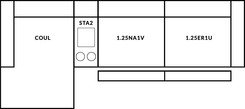 FrontRow™ Luno 3 seat straight Option 14
