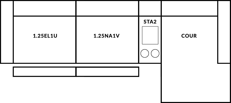 FrontRow™ Luno 3 seat straight Option 15