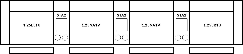 FrontRow™ Luno 4 seat straight Option 2