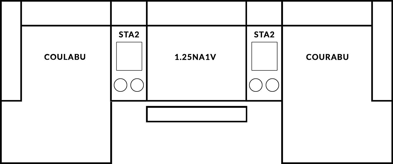 FrontRow™ Modern 3 seat straight Option 11