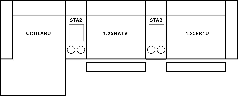 FrontRow™ Modern 3 seat straight Option 13
