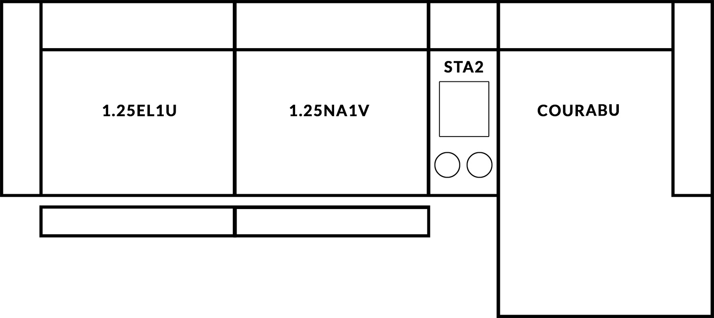 FrontRow™ Modern 3 seat straight Option 15