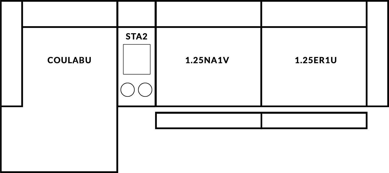 FrontRow™ Modern 3 seat straight Option 14