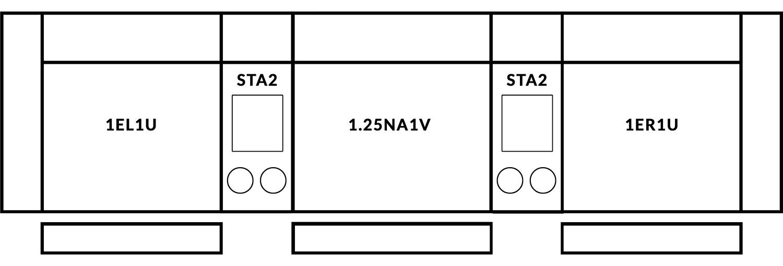 FrontRow™ Modern 3 seat straight Option 8