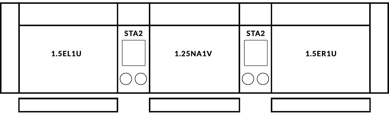 FrontRow™ Modern 3 seat straight Option 9