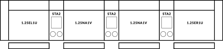 FrontRow™ Modern 4 seat straight Option 2
