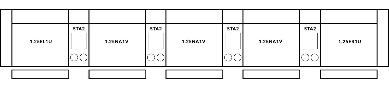 FrontRow™ Modern 5 seat straight Option 2