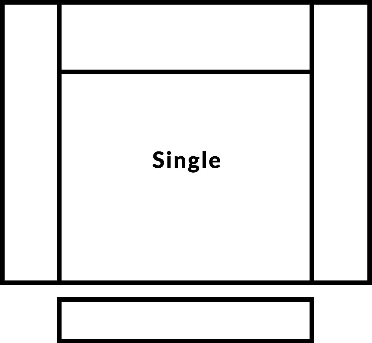 FrontRow™ Modern single seat
