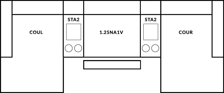 FrontRow™ Luno 3 seat straight Option 11