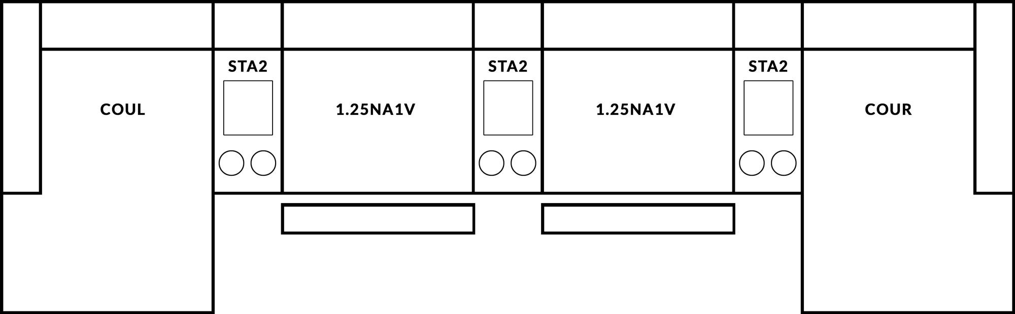 FrontRow™ Luno 4 seat straight Option 5