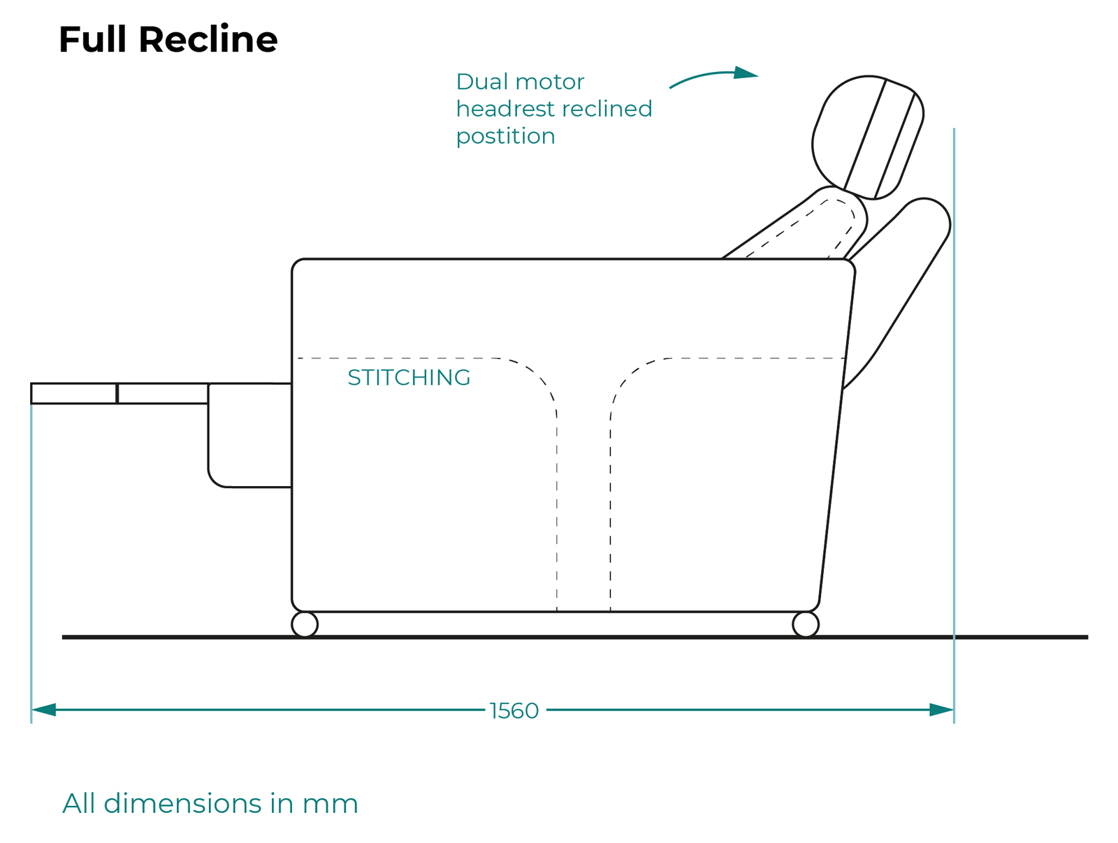 Serenity sideview - full recline