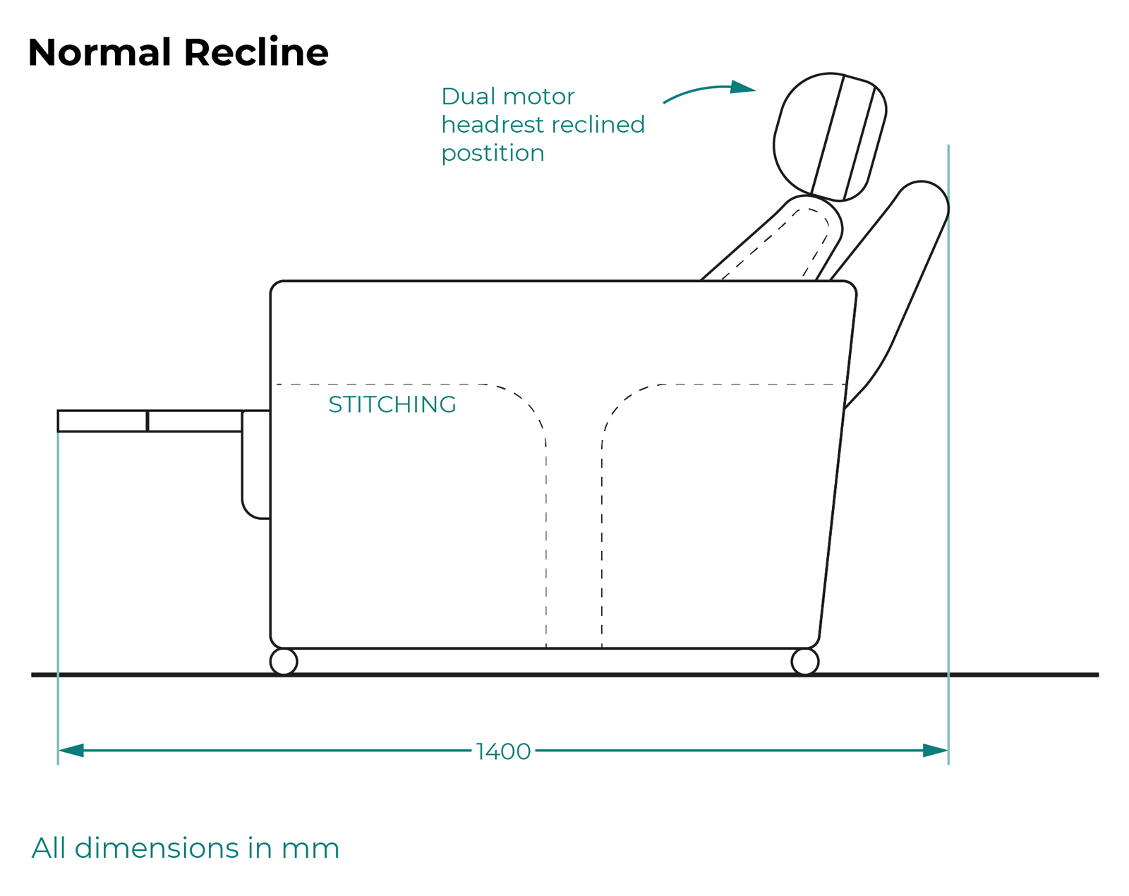 Serenity sideview - normal recline