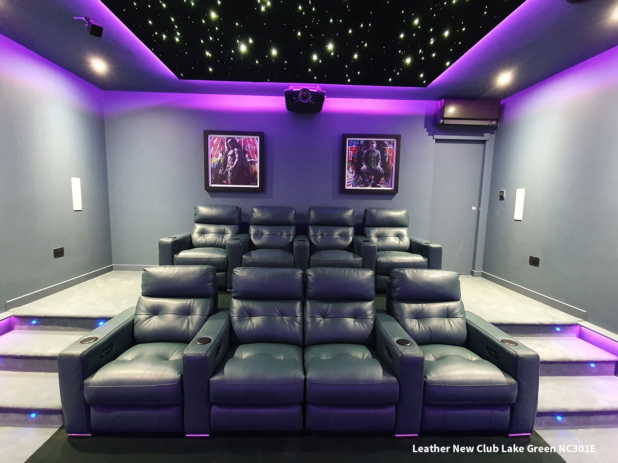FrontRow™ Serenity Home Cinema Seating installation