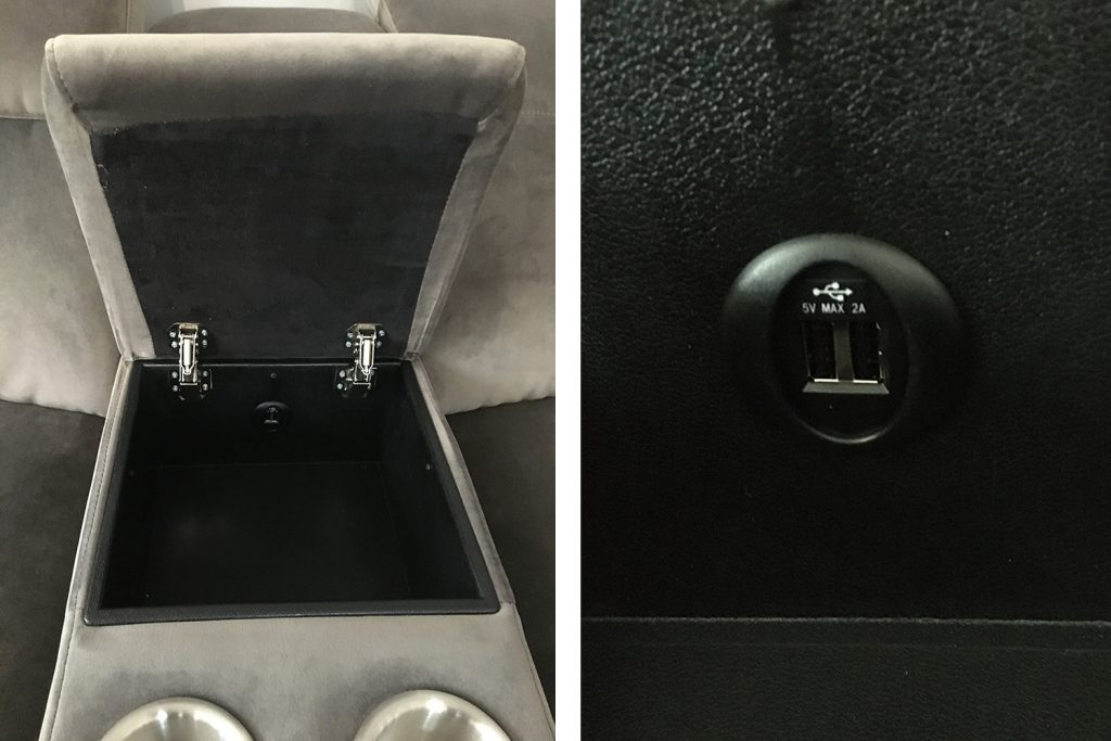 Frontrow™ Classic arms with cupholders and usb