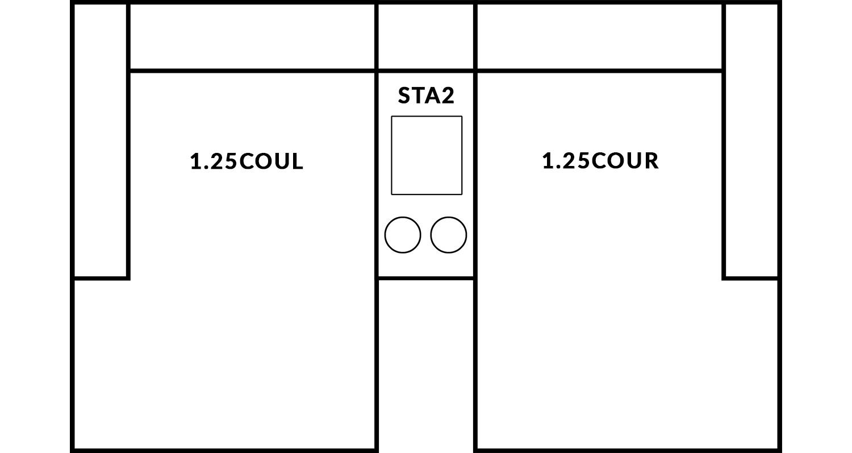 FrontRow™ Modern 2 seat straight Option 8