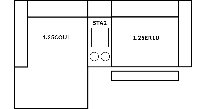 FrontRow™ Modern 2 seat straight Option 9