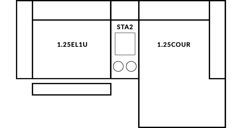 FrontRow™ Modern 2 seat straight Option 10