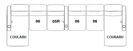 FrontRow™ Serenity 6 seat straight opt5