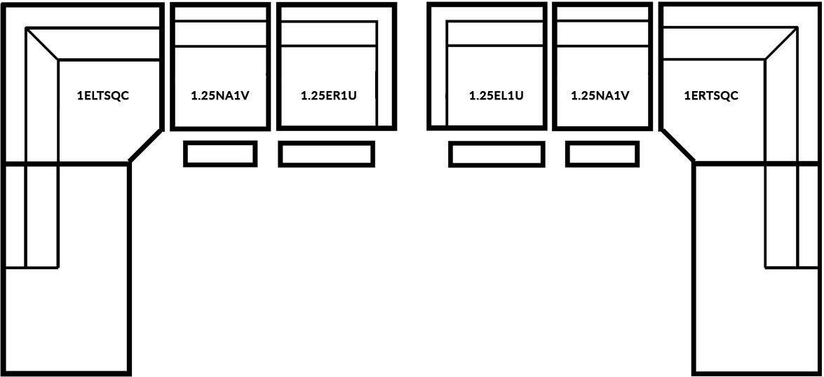 FrontRow™ Uber Corner configuration Option 3