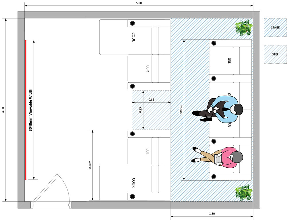 Demo seating plans - from above