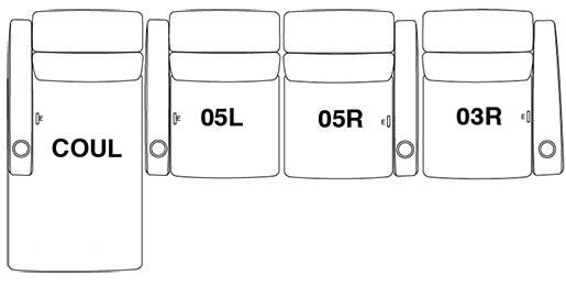 4 Seat Straight (Option 4)